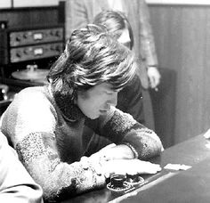 Mick Jägger and the Stones recording in Muscle Shoals 1969.