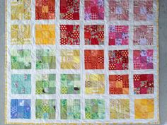 nine patch baby quilt pattern Baby Quilt Patterns, Quilting Patterns, Quilting Ideas, Baby Quilts Easy, Nine Patch Quilt, Rainbow Quilt, Organize Fabric, Toddler Quilt, Contemporary Quilts