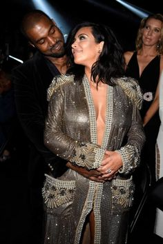 Kim Kardashian and Kanye West's 8 Cutest Moments from the Grammy Awards #InStyle