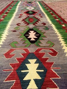 Turkish Runner Kilim Rug Handwoven runner Kilim by KilimRugStore