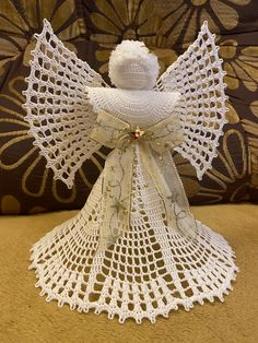 Crochet Angel Pattern, Crochet Angels, Burlap Wreath, Wreaths, Christmas, Decor, Yule, Decoration, Xmas