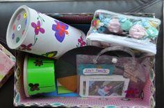 Inside Ella's busy box