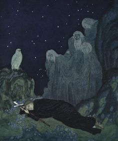 Edmund Dulac, A Circle of Mist - The Dreamer of Dreams