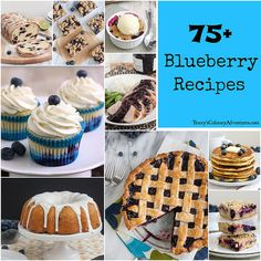 I LOVE BLUEBERRIES ! And this week (July 20) is Blueberry Week ! All Delicious With (Detailed Recipes for each)  #75+ Blueberry Recipes !