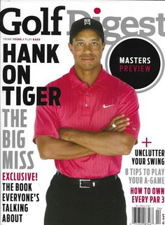 93be525f Golf Digest Magazine Tiger Woods Masters Preview Swing Tips Own Every Par  2012 Cbs Sports,