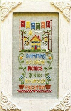 COUNTRY COTTAGE NEEDLEWORKS: Summer  Cross by NeedleCaseGoodies