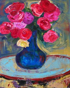 A sometimes daily journal of painting, by Barb Yates Dudding. Easy Flower Painting, Flower Art, Muse Art, Still Life Art, Painting Inspiration, Room Inspiration, Yellow Roses, Online Art Gallery, Cool Art