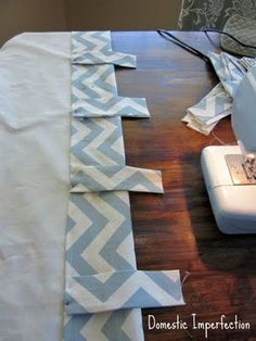 sewing curtains. Too easy-find fabric, sew sides