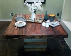 Reclaimed Wood Bunkhouse Dining Table by MistyMtnFurn on Etsy