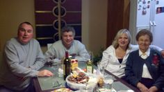 2012 Christmas with our good friends and neighbors with Mom (Tim, Dom & Michelle Montuoro and Fran)