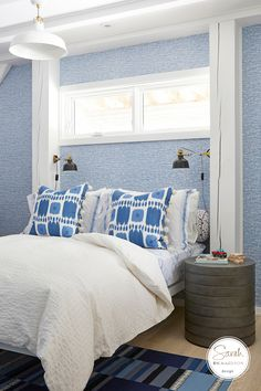 Sarah Richardson Design creates beautiful and happy homes for our clients. Sarah Richardson, Teenage Room, Timber House, Home Technology, Blue Bedroom, Booth Design, Decoration, Girl Room, House Design