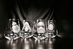 Check out this item in my Etsy shop https://www.etsy.com/listing/254547394/etched-star-wars-wine-glass-set
