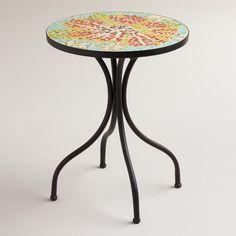 Adorable Flower Cadiz Mosaic Accent Table