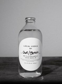 Our/Vodka - The Dieline - succeeds in simplicity where others fail. nice and clean, achieving a very local and hand-crafted feel.