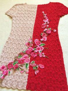 Crochet Long Dresses, Crochet Skirts, Crochet Clothes, Crochet Top, Knitting Paterns, Crochet Patterns, Crochet Cardigan, Knit Dress, Crochet For Kids