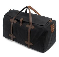dcfde1d40d Waxed Canvas Travel Bag Duffle Bag Holdall with Leather Trim AF12
