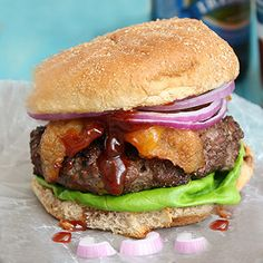 coffee rubbed cheeseburgers with barbecue sauce printcoffee rubbed ...