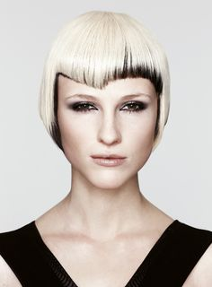 interesting color mix, platinum blonde & black