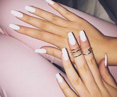 White Nails! Sooo cute!