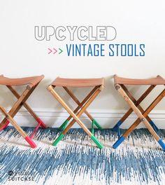 Upcycled vintage lea