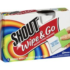 Shout® Wipe & Go Instant Stain Remover Wipes 12 Count : Target Cleaning Hacks, Cleaning Wipes, Cleaning Products, Cleaning Supplies, How To Remove, How To Apply, How To Make, Johnson Family, Soap Scum