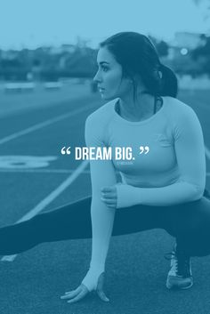 Dream big. Gymshark fitness quotes