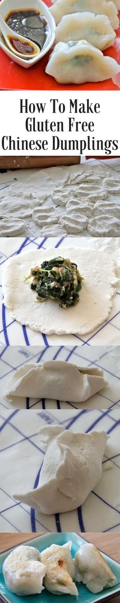 Gluten Free Chinese Dumplings - the texture of this dumpling skin is great and the filling is easy to make