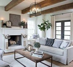 32 Amazing Elegant Furniture For Modern Farmhouse Living Room Decor Ideas. If you are looking for Elegant Furniture For Modern Farmhouse Living Room Decor Ideas, You come to the right place. Modern Farmhouse Living Room Decor, French Country Living Room, Farmhouse Style Kitchen, Farmhouse Decor, Modern Living, Small Living, Country Farmhouse, Farmhouse Ideas, Farmhouse Design