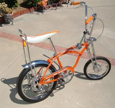 Best representation descriptions: Schwinn Stingray Orange Krate Bikes Related searches: Bike Chain Guard,Bicycle Seat Parts Online,Bicycle . Retro Bicycle, Old Bicycle, Cruiser Bicycle, Old Bikes, Velo Vintage, Vintage Bicycles, Tricycle, Banana Seat Bike, Estilo Cholo