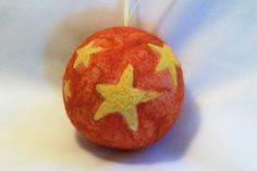 Needle Felted Christmas Ornament  Stars by syodercrafts on Etsy, $25.00