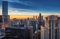 Chicago Sunset by KevinDrewDavis #architecture #building #architexture #city #buildings #skyscraper #urban #design #minimal #cities #town #street #art #arts #architecturelovers #abstract #photooftheday #amazing #picoftheday