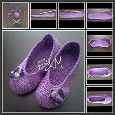 schemi per pantofole all'uncinetto - Cerca con Google