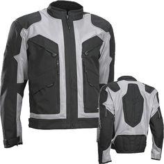 Black Silver, S Jet Motorcycle Motorbike Jacket Mens Textile Summer Mesh Armoured Multi Functional BARCA