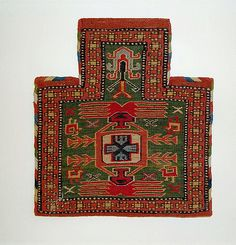 Soumak Salt Bag, Purchased in Damascus, Syria Islamic Tiles, Tribal Bags, Textiles, Woven Wrap, Fabric Rug, Magic Carpet, Oriental Rug, Rugs On Carpet, Central Asia