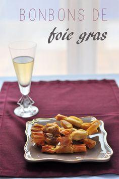 Recette des bonbons de foie gras