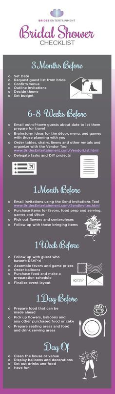 The Perfect Bridal Shower Checklist  Events  Games Treats