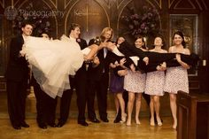 this is such a cute idea!.... as long as you don't have that creepy groom's man in the middle lol
