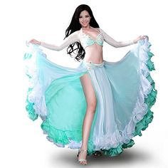 ROYAL SMEELA Belly Dance Costume for Women Belly Dancing Skirt Side Slit Belly Dancing Outfit Carnival Costumes