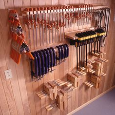 FREE woodworking plans through 4/18/12: Five great clamp organizers