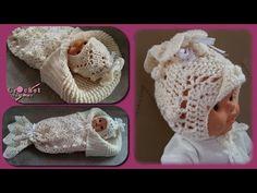كروشيه طاقية بيبي حديث الولادة // Crochet baby hat for newborn
