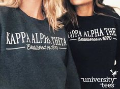 long nights during work week/recruitment require the comfiest of sweatshirts | Kappa Alpha Theta | Made by University Tees | universitytees.com