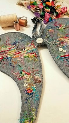 Gypsy Boho Angel Wings Boro Embroidery Stitch