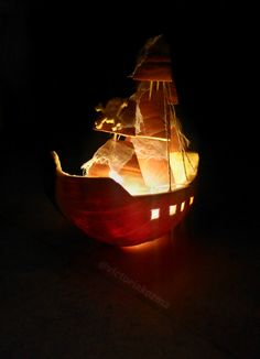 Ghostship for Halloween  #halloween #pumpkin #halloweenpumpkin #ghost #ghostship #ship #halloweenmakeup #diy #victoriakozma