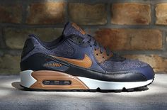 huge selection of e9751 ba7b3 Blue Leather And Wool Cover This Nike Air Max 90 Nike Air Max, Air Max
