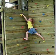 How to Build a Kids Rock Climbing Wall - perfect for the boys tree house