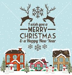Christmas neighbourhood vector by grmarc on VectorStock®