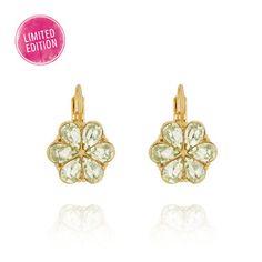 Crystal Floret Earrings. Beautiful. Buy them at www.chloeandisabel.com/boutique/lisab.  #Earrings #Crystal #ChloeIsabel