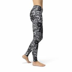 Avery Black Lace Lycra Leggings, Purple Ombre, Purple Lace, Black Lace Leggings, Black And White Heart, Lace Design, Black Laces, Red And Pink