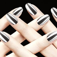 The Best Metallic Nail Polishes - Savoir Flair metallic nail polish - Nails Get Nails, How To Do Nails, Hair And Nails, Formula X Nail Polish, Polish Nails, Nail Polishes, Metallic Nail Polish, Metallic Pink, Silver Nails
