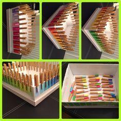 Farben zuordnen und Förderung der Feinmotorik (Montessori)